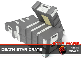 3D printable model Star Wars death star crate 1-18