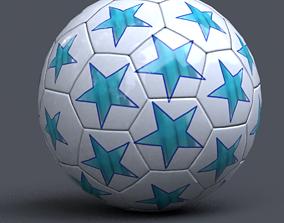 soccer ball 3D asset low-poly