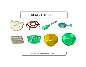 3D model Kitchen Set - COMBO B dish