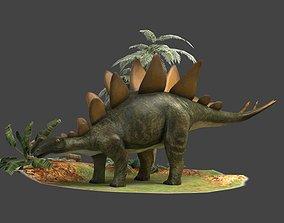 3D model Dinosaurs stegosaurs herbivores ancient creatures