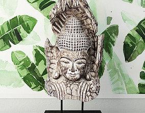 Albesia Wood Buddha Decoration 2 3D model