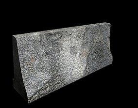 concrete block 3D model low-poly