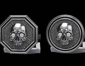 skull cufflinks 2 3D