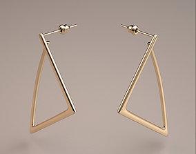 gold triangle earrings model 3dsmax