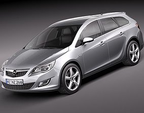 3D Opel Astra Touring 2012