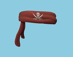 3D model Pirate Bandana 04 - Red - Character Costume