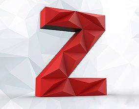 Lowpoly letter Z 3D print model