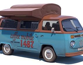 Street coffee car Volkswagen 3D model
