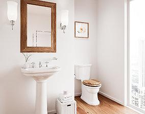 3D Victorian Bathroom - Modern