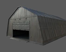 Military Hangar 01 3D asset
