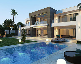 coastal Modern 3d private villa