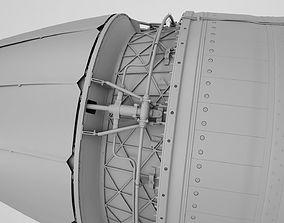 airplane 3D model Jet engine
