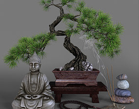 3D model Decorative set in oriental style
