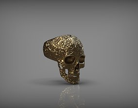 Mexican Skull Ring 3D Print
