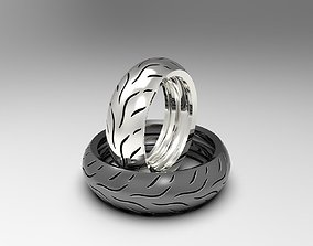3D printable model Dunlop motorcycle tire rings set