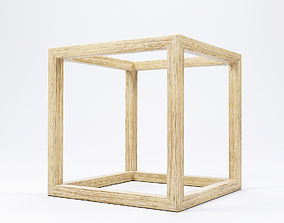 Modern Cube Frame Decoration 3D model