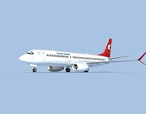 3D model Boeing 737-800 Max Turkish Airlines