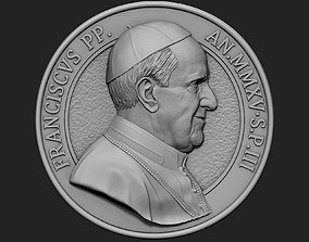 Pope Francis Medallion v2 3D print model
