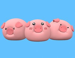 cartoon 3D printable model Piggy