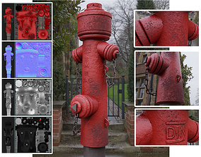 Fire Hydrant VAG 2 - Red and Rosty 1 - 3D model