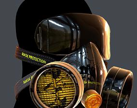VR / AR ready Gas mask helmet 3d model scifi Low-poly 3