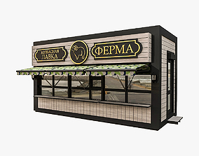 3D Urban Commercial Pavilion
