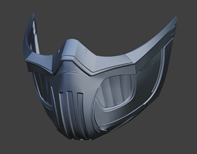 Frost cyberpunk female mask for face 3D printable model 3