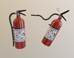 Fire Extinguisher accident 3D rigged