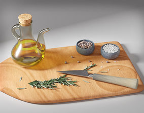 3D model Olive Oil Seasonings Set