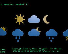 Low poly weather symbol 2 3D asset