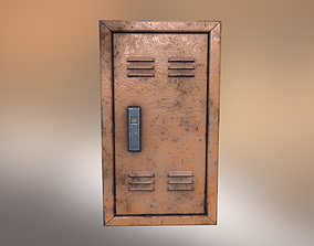 3D model low-poly Electrical Panel