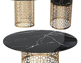 3D Platner table gold