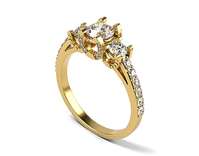 3D print model Lucky Engagement Ring