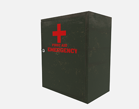 First aid cabinet 3D model rigged