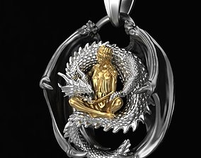 3D print model Pendant Girl with a dragon
