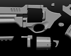 Modern Revolver for Cosplay 3D printable model