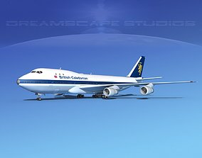 3D rigged Boeing 747-100 British Caledonian