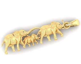 animal elephant family pendant stl 3D print model