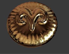 Zodiak sign Aries Coin 3D print model