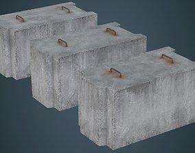 Concrete Barrier 5B 3D model
