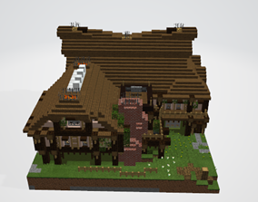 3D Rustic Manor