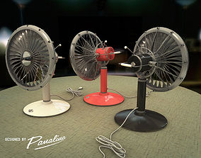 Vintage Fan JT3D - c4d fbx 3ds rigged