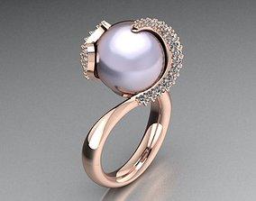 14 or 18k pearl ring 3D print model
