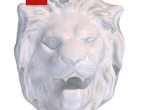 3D model Plaster head of a lion 127