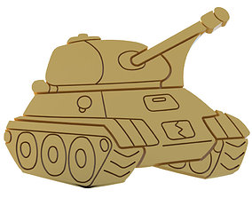 Shape cookie Tank 3D printable model