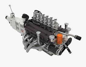 3D model Ferrari Colombo V12 Engine - 3 liter