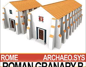 3D model Roman Granary B