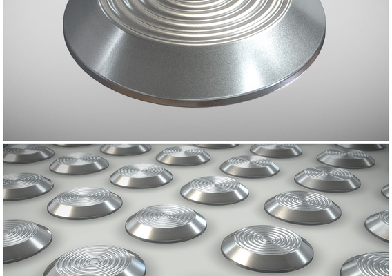 Tactile Studs - Stainless Steel (High-Poly)