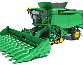Tracked Combine Harvester 3D model