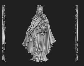 Virgen del Carmen Bas-Relief 3D print model